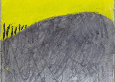 Horizons, 11x15cm acrylic on paper.