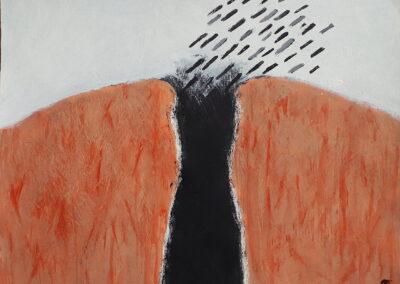 Chasm, 2019. Acrylic. 27x35.4cm.