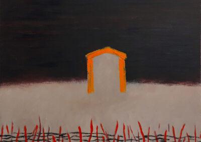 Thorns, 57x57cm. Oil on canvas.