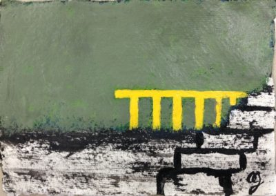 Barrier, 11x15cm, acrylic on paper