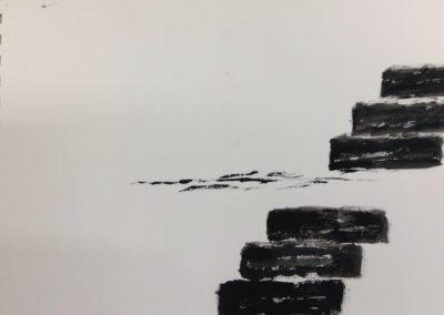 Breach, 19x28cm, gouache on paper
