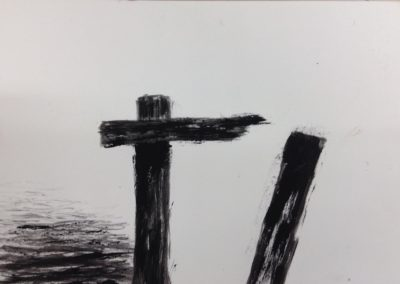 Broken, 19x28cm, gouache on paper