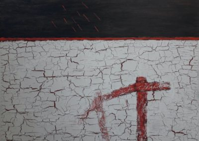 Broken. Oil, emulsion paint on canvas. 76x102cm