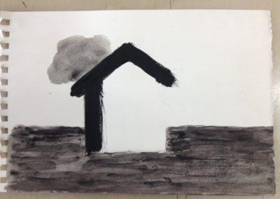 Cloud. 11x15cm. Acrylic on paper