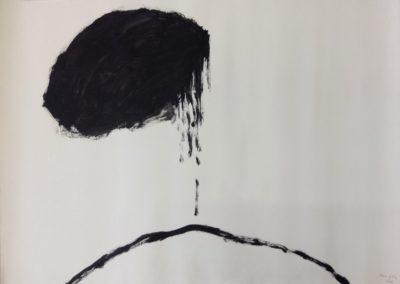 Cloud. Acrylic on paper. 78x109cm.