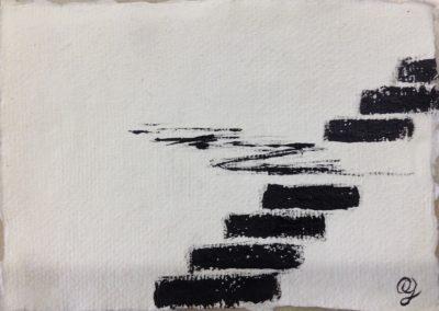 Drift, 11x15cm. Acrylic on paper.