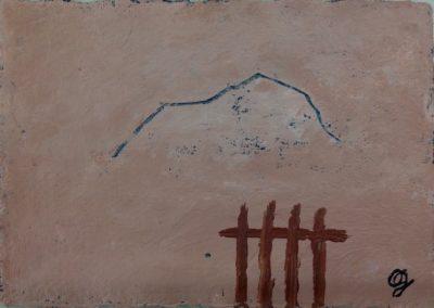 Gate, 11x15cm, acrylic on paper.