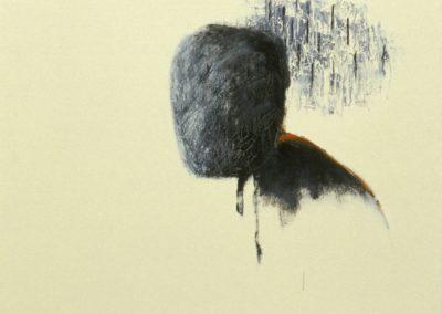 Gaze. Oil and enamel paint on canvas. 60x75cm