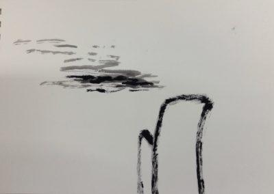 Gone, 19x28cm. Gouache on paper.