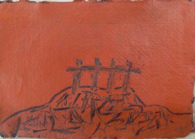 Mount, 11x15cm, acrylic on paper.