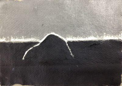Mountain, 11x15cm, acrylic on paper.