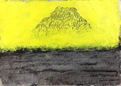 Mountain 2, 11x15cm, acrylic on paper.