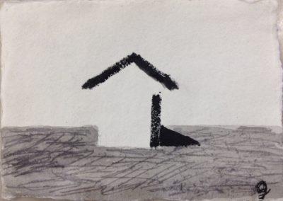 Shadow, 11x15cm. Acrylic on paper.