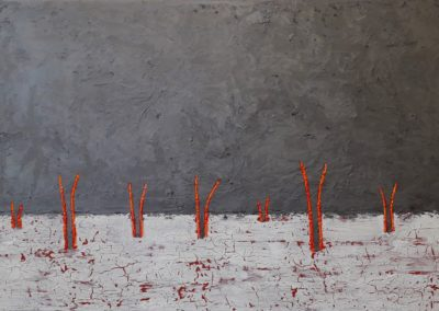 Shoots. Oil on canvas, 61x92cm.