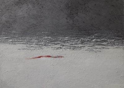 Shore. Oil, graphite pigments,resin on canvas. 46x61.5cm.