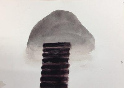Shutter, 19x28cm. gouache on paper.