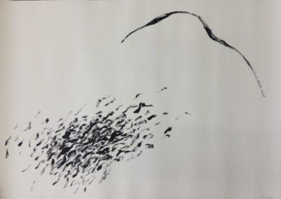 Stream. Acrylic on paper. 78x109cm.