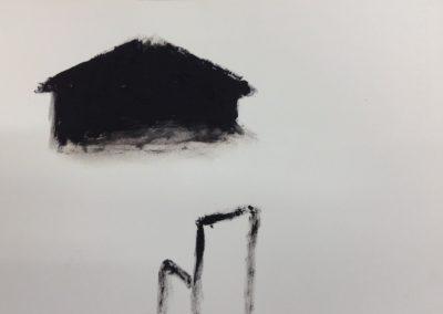 Vigil, 19x28cm. Gouache on paper.