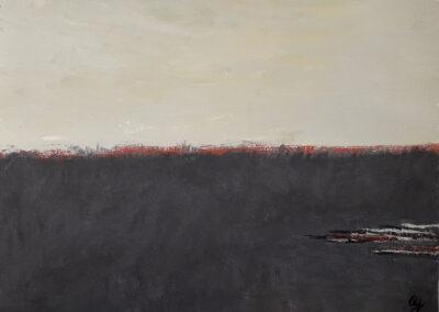 Ripples, 2019. Acrylic. 23.2x31.1cm.